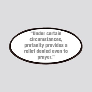 Under certain circumstances profanity provides a r