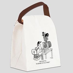 Chicken Cartoon 2372 Canvas Lunch Bag