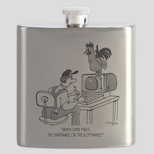 Chicken Cartoon 2372 Flask