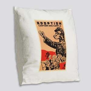 Conform And Comply Burlap Throw Pillow