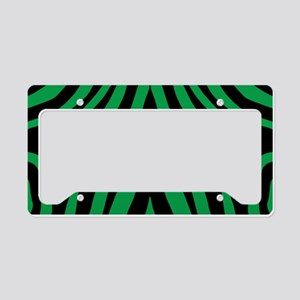 Green Zebra License Plate Holder