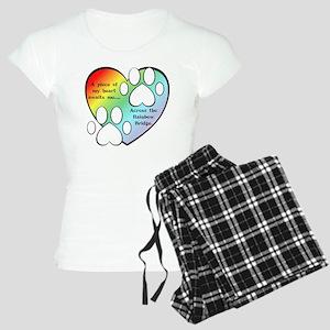 Rainbow Bridge Heart Women's Light Pajamas