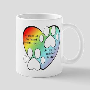 Rainbow Bridge Heart Mug