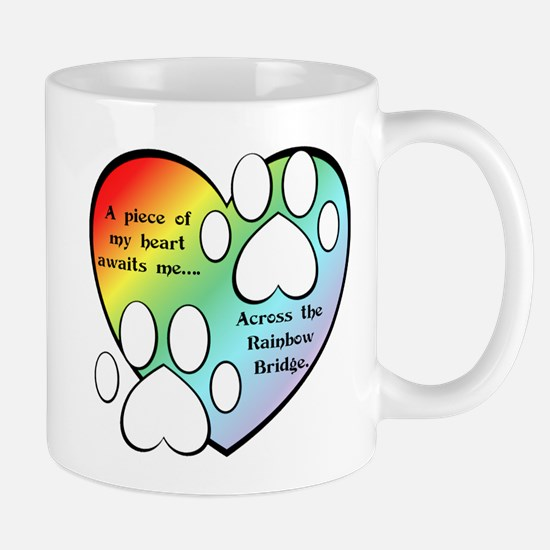 Rainbow Bridge Heart Mug