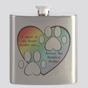 Rainbow Bridge Heart Flask