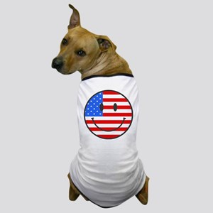 Smiley Face Fourth Of July Dog T-Shirt