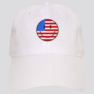 Smiley Face Fourth Of July Cap