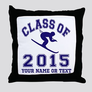 Class Of 2015 Skiier Throw Pillow