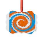 Orange Blue White Spread Ornament