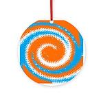 Orange Blue White Spread Ornament (Round)