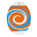 Orange Blue White Spread Ornament (Oval)