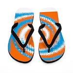 Orange Blue White Spread Flip Flops