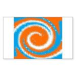Orange Blue White Spread Sticker
