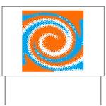 Orange Blue White Spread Yard Sign