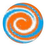 Orange Blue White Spread Round Car Magnet