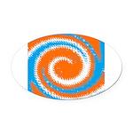 Orange Blue White Spread Oval Car Magnet