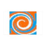 Orange Blue White Spread Wall Decal