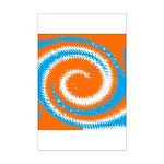 Orange Blue White Spread Posters