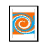Orange Blue White Spread Framed Panel Print