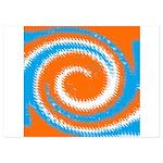 Orange Blue White Spread Invitations