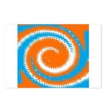Orange Blue White Spread Postcards (Package of 8)