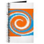 Orange Blue White Spread Journal