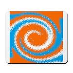 Orange Blue White Spread Mousepad