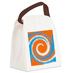 Orange Blue White Spread Canvas Lunch Bag