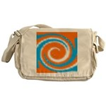 Orange Blue White Spread Messenger Bag