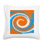 Orange Blue White Spread Square Canvas Pillow