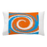 Orange Blue White Spread Pillow Case