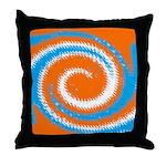 Orange Blue White Spread Throw Pillow