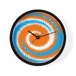 Orange Blue White Spread Wall Clock