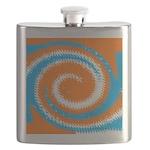 Orange Blue White Spread Flask