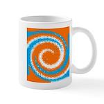 Orange Blue White Spread Mugs