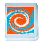 Orange Blue White Spread baby blanket
