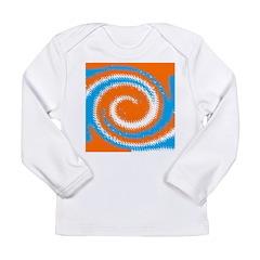 Orange Blue White Spread Long Sleeve T-Shirt