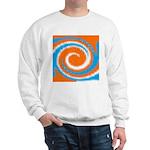 Orange Blue White Spread Sweatshirt