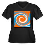 Orange Blue White Spread Plus Size T-Shirt
