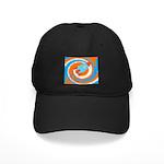 Orange and Blue Rocket Ship Baseball Hat
