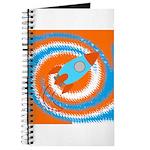 Orange and Blue Rocket Ship Journal