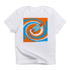Orange and Blue Rocket Ship Infant T-Shirt