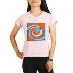 Orange and Blue Rocket Ship Performance Dry T-Shir
