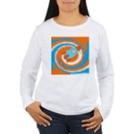 Orange and Blue Rocket Ship Long Sleeve T-Shirt