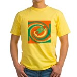 Orange and Blue Rocket Ship T-Shirt