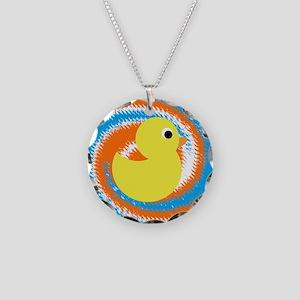 Rubber Duck Orange Blue Necklace