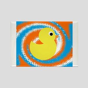 Rubber Duck Orange Blue Magnets