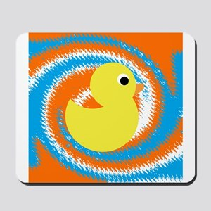 Rubber Duck Orange Blue Mousepad