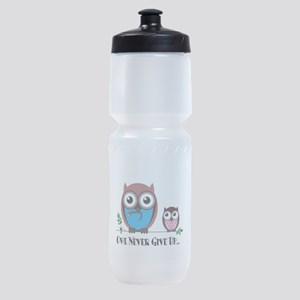 Owl Never Give Up (Dysautonomia) Sports Bottle