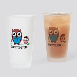 Owl Never Give Up (Dysautonomia) Drinking Glass